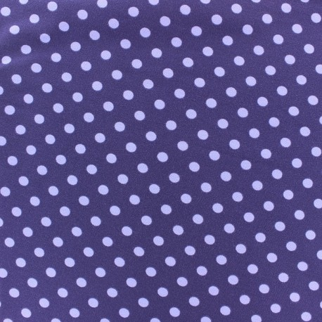 Tissu Jersey pois 7 mm - mauve/violet x 10cm