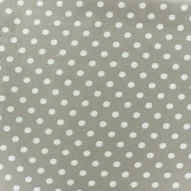 Tissu Jersey pois 7 mm - ecru/beige x 10cm