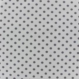 Tissu Jersey pois 7 mm - gris souris/ecru x 10cm