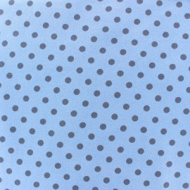 Jersey fabric Dots 7 mm - horizon/light blue x 10cm