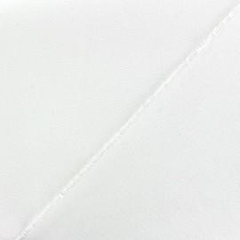 Tissu toile transat avec lisière à coudre - blanc x 10cm