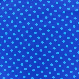 Jersey fabric Dots 7 mm - blue/navy x 10cm