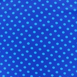 Tissu Jersey pois 7 mm - bleu/marine x 10cm