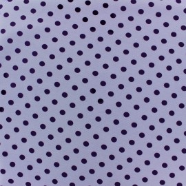 Jersey fabric Dots 7 mm - purple/mauve x 10cm