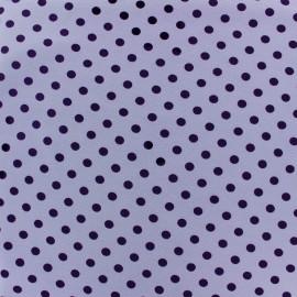 Tissu Jersey pois 7 mm - violet/mauve x 10cm