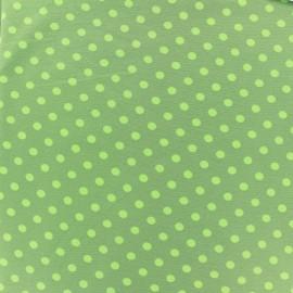 ♥ Coupon 200 cm X 150 cm ♥ Jersey fabric Dots 7 mm - light green/khaki