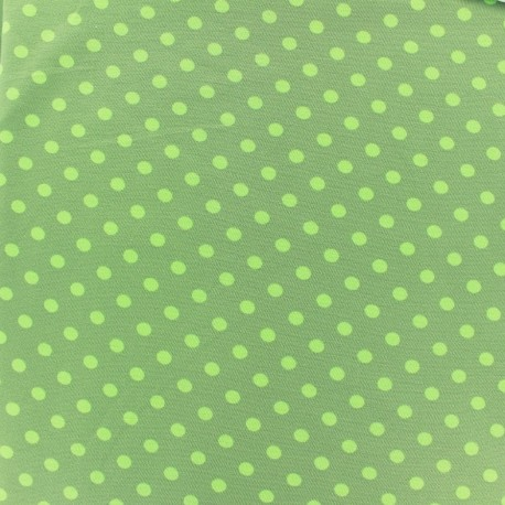 Jersey fabric Dots 7 mm - light green/khaki x 10cm