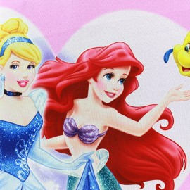 Tissu Occultant Disney Les Princesses - rose x 65cm