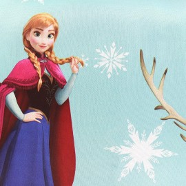 Blackout Fabric Disney La Reine des Neiges - blue x 65cm