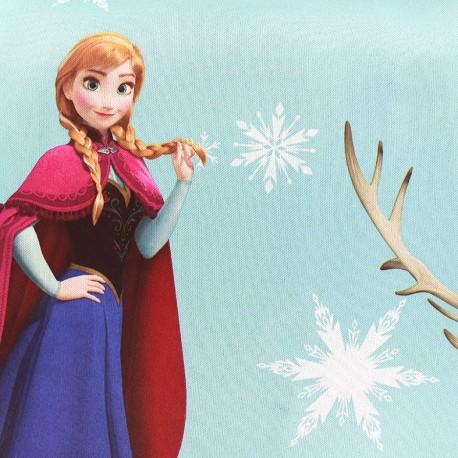 Tissu Occultant Disney La Reine des Neiges - bleu x 65cm