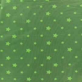 Tissu Jersey voie lactée - vert clair/kaki x 10cm