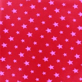 Tissu Jersey voie lactée - fuchsia/rouge x 10cm