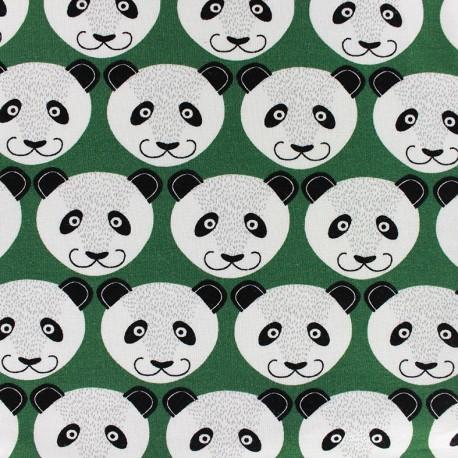 8297f774794 Poppy jersey fabric Pretty Panda - green x 10cm - Ma Petite Mercerie