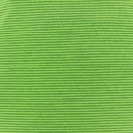 Tissu Jersey Rayures bicolores 2mm - kaki/vert clair  x 10cm