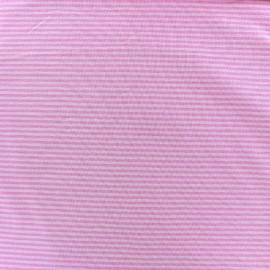 Tissu Jersey Rayures bicolores 2mm - rose/rose pâle x 10cm