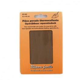 Percale Repair sheet - chestnut brown