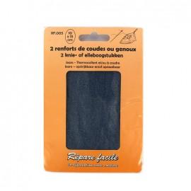Renforts jeans thermocollants coudes ou genoux (lot de 2) - bleu délavé