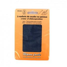 Renforts jeans thermocollants coudes ou genoux (lot de 2) - bleu
