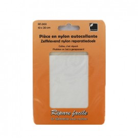 Nylon self adhesive repair sheet - white