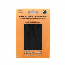 Pièce en nylon autocollante - noir