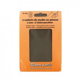 Renforts thermocollants imitation daim coudes ou genoux (lot de 2) - taupe