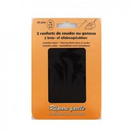 Renforts thermocollants imitation daim coudes ou genoux (lot de 2) - noir