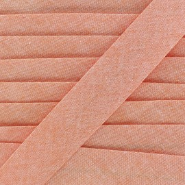 Biais Chambray 30 mm - orange x 1m