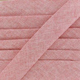 Biais Chambray 30 mm - rouge x 1m