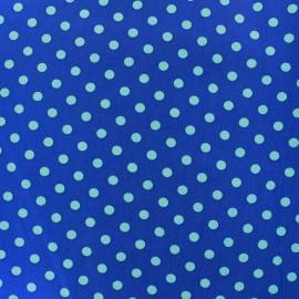 Tissu coton pois 6mm - bleu/marine x 10cm