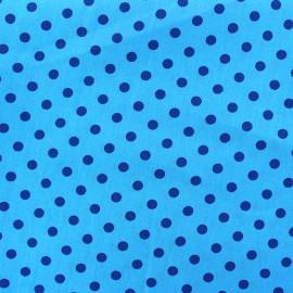 Tissu coton pois 6mm - marine/bleu x 10cm