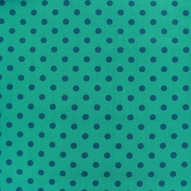 Cotton Fabric pois 6mm - duck blue/water x 10cm