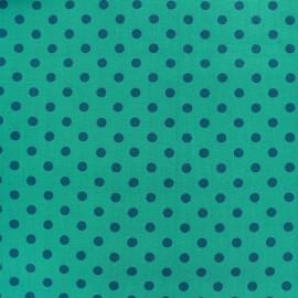Tissu coton pois 6mm - bleu canard/aqua x 10cm