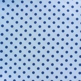 Tissu coton pois 6mm - horizon/bleu pâle x 10cm