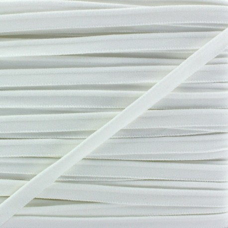Elastic piping - white x 1m