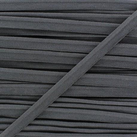 Elastic piping - anthracite x 1m