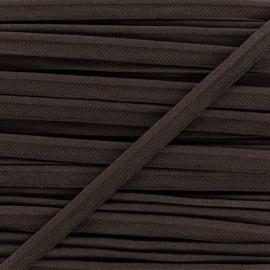 Passepoil élastique - marron x 1m