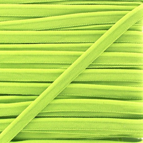 Elastic piping - light green x 1m