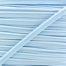 Elastic piping - sky blue x 1m
