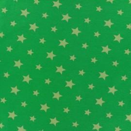 Jersey fabric Voie lactée - khaki/green x 10cm