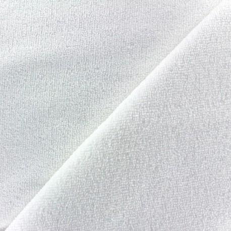 Tissu polaire bébé micro - blanc x 10cm