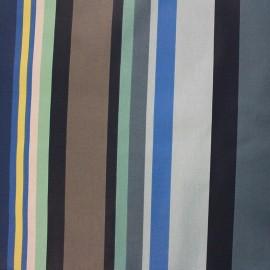 Tissu enduit coton Arnaga - bleu x 10cm