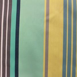 ♥ Coupon tissu 50 cm X 150 cm ♥ enduit coton Canarias - bleu