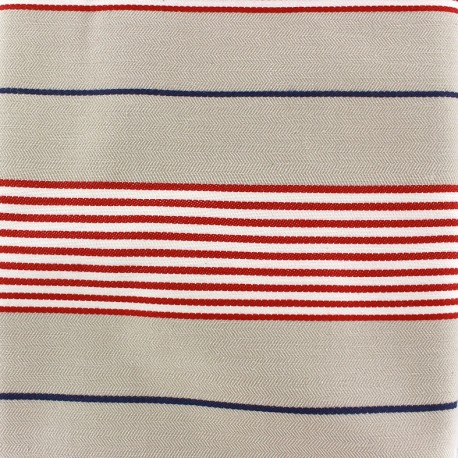 Canvas fabric Caspio (280 cm) - red x 24cm