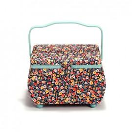 Boîte à couture rectangle Prym Mille fleurs M