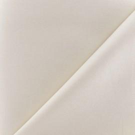 Tissu Gabardine Lycra satiné ivoire x 10cm