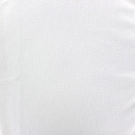 Tissu jersey ajouré France Duval - blanc x 10cm