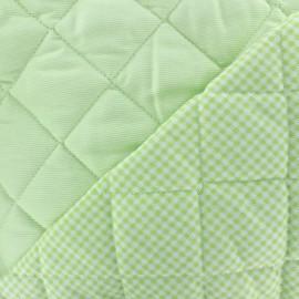 Tissu piqué de coton baby matelassé - anis x 10cm