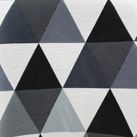 Jacquard fabric Géo - grey x 11cm