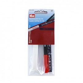 Nécessaire à marquer le linge Prym 3m avec trace-lettre - rouge