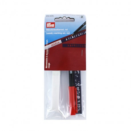 Laundry marking set - red